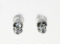 S144 Silver Skull Studs