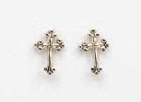 S2 Gothic cross studs