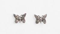 S40 Silver butterfly studs