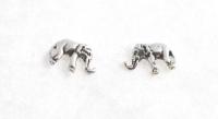 S7 Silver elephant studs