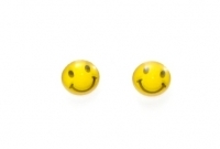 S8a silver smiley studs