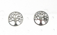S95 Silver Tree of Life Studs