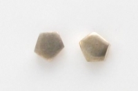 S99 Brushed pentagon studs