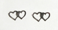 S9a Double Heart studs